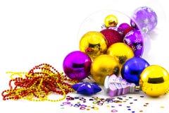 Färg klumpa ihop sig, och jul klumpa ihop sig Royaltyfri Foto