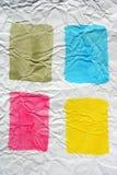 färg krossade fyra målat papper Arkivfoto