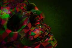Färg målad skalleillustration Arkivfoto
