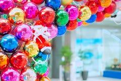Färg mycket av jultomten Fotografering för Bildbyråer