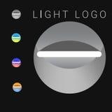 Färg och gråton för abstrakta logobelysningar industriell ljus Arkivbild