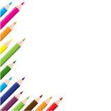 Färg pencils bakgrund Royaltyfri Bild