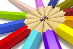 färg pencils något Arkivbild