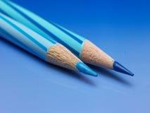 färg pencils två Royaltyfri Foto