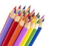 Färg ritar närbild på vit arkivfoto