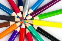 Färg ritar på vit bakgrund - kan använda för bakgrund Arkivbild