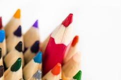 Färg ritar på vit bakgrund - kan använda för bakgrund Arkivfoto