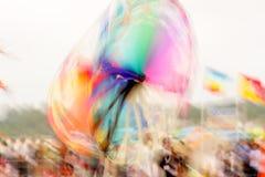 Färg rullar in rörelse Arkivbilder