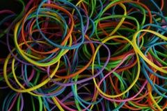 Färg sätter band bakgrund Arkivbild