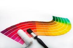 färg som dekorerar provkartor Royaltyfria Foton