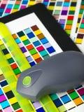 färg som skapar skrivarprofil arkivfoton