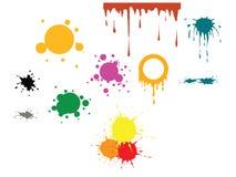 färg spots vektorn royaltyfri illustrationer