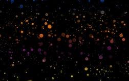 Färg stänker på svart bakgrund Bokeh effekter planlägger vektor illustrationer