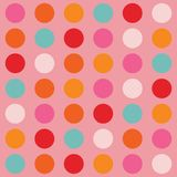 Färg stora Dots Pattern Arkivfoto