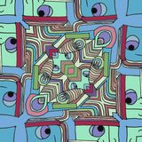 Färg vänder mot - abstrakt rolig tecknad filmbakgrund vektor illustrationer