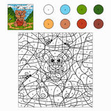 Färg vid numret (björnen) Arkivbilder