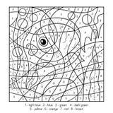Färg vid numret, fisk royaltyfri illustrationer