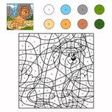 Färg vid numret (lejonet) stock illustrationer