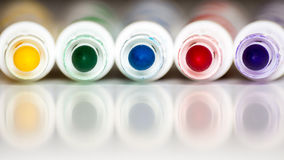 färg vita isolerade markörer Fotografering för Bildbyråer