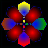 Färga abstrakt sammansättning med bollar och svagt luddigt Arkivfoton