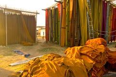 Färga arbeten, Sanganer, Jaipur Royaltyfria Bilder
