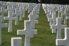 Färga bilden av USA-kriggravar i Frankrike Arkivfoto