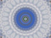 Färga blom- stil för mandalaen i blått och vit royaltyfri illustrationer