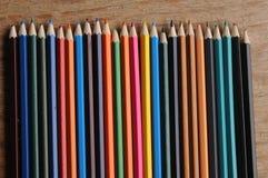 Färga blyertspennor Royaltyfri Bild