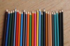 Färga blyertspennor Royaltyfri Foto