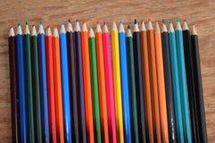 Färga blyertspennor Royaltyfri Fotografi