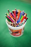 färga blyertspennor Royaltyfria Foton