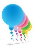 Färga bubblar. stock illustrationer