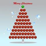 Färga bubblar juldesignbeståndsdelen Royaltyfri Bild