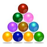 Färga bubblar juldesignbeståndsdelen Royaltyfri Fotografi