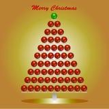 Färga bubblar juldesignbeståndsdelen Arkivfoto
