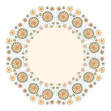 Färga dekorativ blommabakgrund med stället för text Royaltyfri Bild
