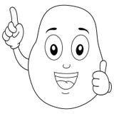 Färga det lyckliga potatistecknad filmteckenet stock illustrationer