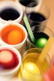 färga easter ägg för 07 Fotografering för Bildbyråer