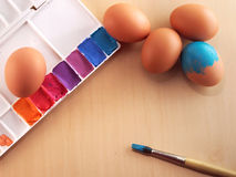 Färga för ägg Arkivfoton