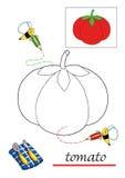 färga för 4 bokbarn vektor illustrationer