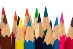 Färga för att vässa blyertspennor arkivfoto