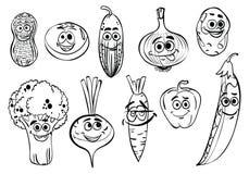 Färga ` för serie för sida`-grönsaker, Royaltyfria Bilder