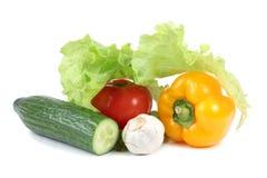 Grönsaker på vit Royaltyfri Foto