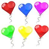 Färga glansiga ballonger Arkivfoton