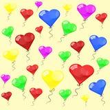 Färga glansiga ballonger Royaltyfri Foto