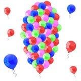 Färga glansiga ballonger Fotografering för Bildbyråer