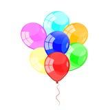 Färga glansiga ballonger Arkivbild