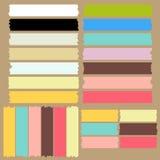 Färga maskeringstejpuppsättningen stock illustrationer
