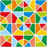 Färga mosaiken mönstrar Arkivbilder