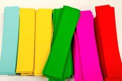 Färga pappers- Royaltyfri Fotografi